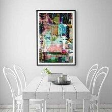 Grafikdruck Abstract 8 East Urban Home Größe: 91
