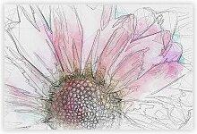 Grafikdruck Pink Daisy Flower Big Box Art
