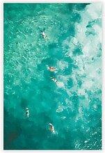Grafikdruck Surfer am Bondi Beach in Australien