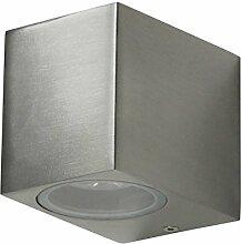 Grafner® Aluminium Außenleuchte eckig poliert