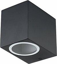 Grafner® Aluminium Außenleuchte eckig schwarz