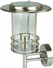 Grafner® Design Edelstahl Wandleuchte E27 Wandlampe außen und innen IP44