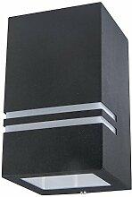 Grafner® Edelstahl Außenleuchte schwarz 1x GU10