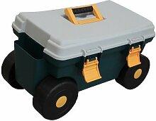 Grafner® Rollsitzwagen Rollsitz Gartenwagen Rollwagen mit großem Staufach und Griff