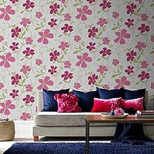 Graham & Brown Majestic Rausch Wallpaper, rot/pink