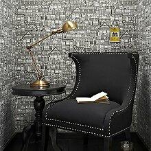 Graham & Brown Tudor Häuser Mustertapete für Wohnzimmer Schlafzimmer Schwarz-Weiss