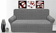 Granada Elastischer Sofaüberwurf 4 Posti grau