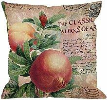 Granatapfel Blume Dekokissen Abdeckung Mit Vintage