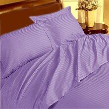 Grand 4Stück Bogen Set UK Wahl 350TC Lavendel Stripe Euro Small Single 100% ägyptische Baumwolle extra tief Tasche (22Zoll)–von TRP Blatt–B12