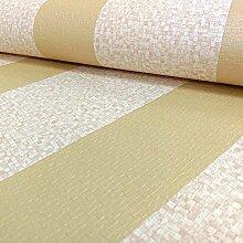Grandeco Palazzo goldfarben gestreift, quadratisch, Designer-Tapete, texturiert, PL - 41610