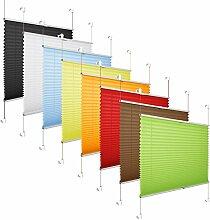 Grandekor *AKTIONSPREIS* Plissee Klemmfix Fenster 50 cm Plissee Rollo Sonnenschutz ohne Bohren - Schwarz 70x130 (BxH)