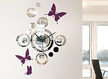 Grandora 1091W Moderne Wanduhr im Spiegel Design +