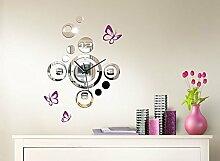 Grandora W3204 Moderne Spiegel Design Wanduhr