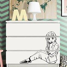 Grandora W5247 Wandtattoo Manga Mädchen passend