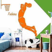 Grandora Wandtattoo Basketballspieler + Wunschname
