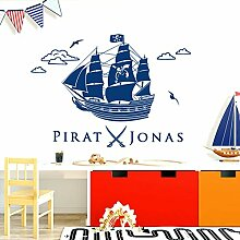 Grandora Wandtattoo Piratenschiff + Pirat Säbel