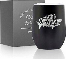 Grandpa Shark Weinglas, Geschenkidee für den
