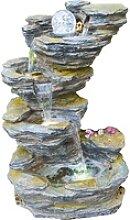 Granimex Wasserspiel Fudong Polyresin Natur 86 cm