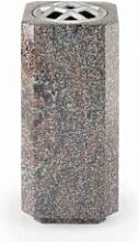 Granit Grabvase mit Blumenverteiler - Ayoka /
