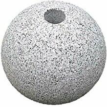 Granit Kugel mit Lochbohrung, Frostfes