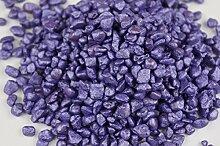 Granulat Farbsand 500g Dekosand Sand Streudeko Dekogranulat Bastelsand RU4 (Lila)