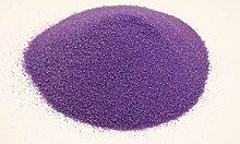 Granulat Farbsand Dekosand Sand Streudeko Dekogranulat Bastelsand RU1 (Lila)