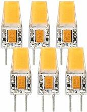 Granvoo 6-er Pack GY6.35 3W COB LEDs Warmweiß
