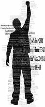 Graphic 1566 Vliestapete Tür-Tapete Mann Schwarz auf Weiß