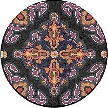 Graphic Circle Shaggy Teppich Runde Form für Schlafzimmer Wohnzimmer Teppich/Fußmatte/Anti-Rutsch
