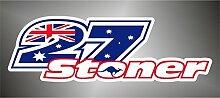 Graphic-lab Aufkleber - Sticker 27 Stoner Moto GP