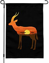 GRAPHICS & MORE Gazelle Orange Sky Afrika Akazie