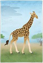 GRAPHICS & MORE Giraffe in Afrika Gartenhof Flagge