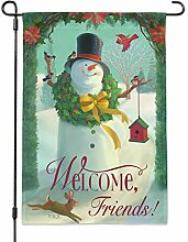 GRAPHICS & MORE Weihnachtsflagge Welcome Friends