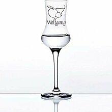 Grappaglas mit Gravur