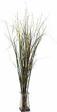 Gras und Bambus W/Glas Vase Silk Pflanze