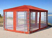 Grasekamp Aluoptik Pavillon 3x4m Terra mit 4