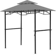Grasekamp Ersatzdach für BBQ Grill Pavillon (Grau)