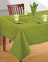 Grasgrün Tischwäsche Set; 1 Tischdecke Rechteckig; 6 Servietten Und 1 Läufer; Frühling Wohnkultur