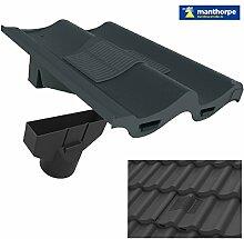 Grau, Doppel Doppel Flachdachziegel Dach Fliese Vent & Adapter / Marley Redland Sandtof