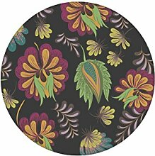 Grau grüne üppig florale Tapete mit großen Blüten angepasst an Little Greene Wandfarbe - Klassische Wanddeko - GMM Design Tapete - Wandtapete - Wand Dekoration für edle Wohnakzente (um Wände halb hoch zu tapezieren H: 1,5m B: 46.5cm)