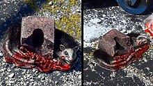 Grau Kill ICKY Ratte Halloween Dekoration