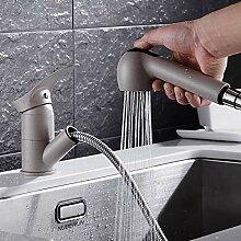 Grau Küchenarmatur Heiße Und Kalte Spüle
