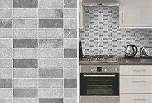 Grau Stein Fliesen Effekt Erweitert Vinyl Küche Badezimmer Tapete von fd40117