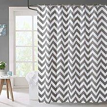 Grau Streifen Bad Schnur Wasserdicht Verdickung Anti Schimmel Bad Trennwand Vorhang ( Farbe : A , größe : 220*180cm )