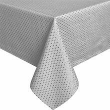 Grau Tischdecke 150 x 260cm by Eurcross, Wasserabweisend Polyester Rechteckige Tischwäsche Unifarben, Tablecloths Rund Wetterfes