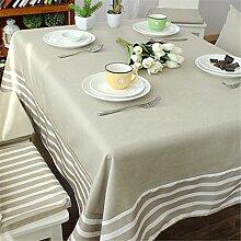 grau Weiß Gestreift Tischdecken Baumwolle leinen Japanischer Stil Mittelmeer Esstisch Rezeption rechteckigen Square nicht bügeln umweltfreundlich garten Tischtuch