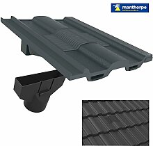 Grau Zinnen Dach Fliese Vent & Adapter / Marley Ludlow Redland Sandtof