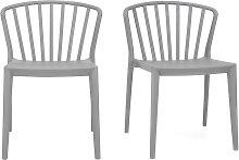 Graue Design-Stühle stapelbar innen/außen ?