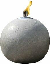 Graue runde Öllampe Kugel