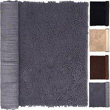 Grauer Badezimmer-Teppich, 40,6 x 61 cm, für